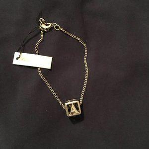 Alphabet Block (A) charm bracelet